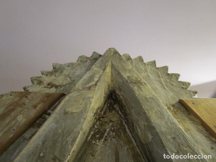 Antigüedades: Antigua Cama de Olot - Estilo Neoclásico -Escena de San Francisco, con Inscripción -Finales S. XVIII - Foto 30 - 205806638