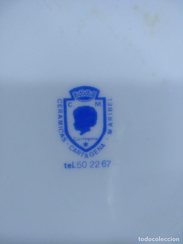 Antigüedades: ANTIGUA JARRA DE CERVEZA EN CERAMICA DECORADA DE CARTAGENA. - Foto 4 - 205818092