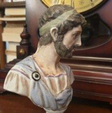 Antigüedades: EMPERADOR ADRIANO (BUSTO DE PORCELANA ANTIGUA). Lote 205821965