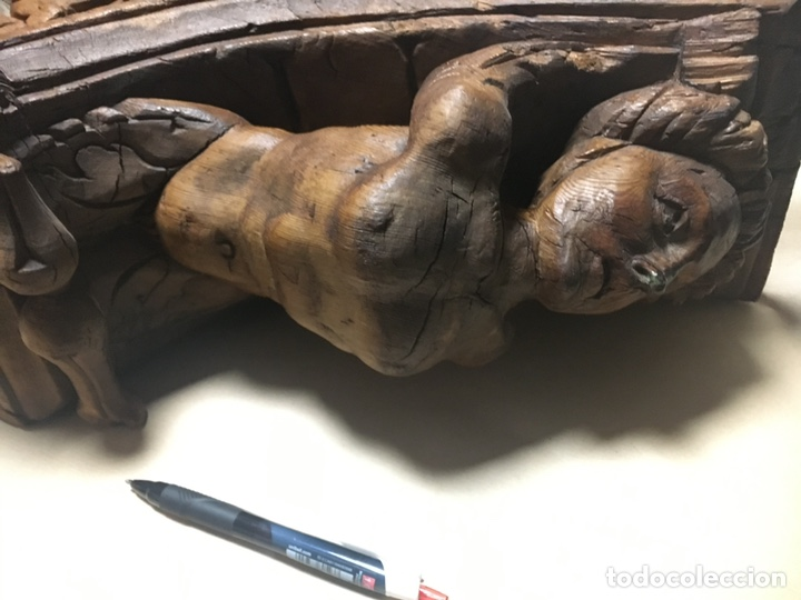 Antigüedades: Antigua mensula de madera - Foto 4 - 205824268