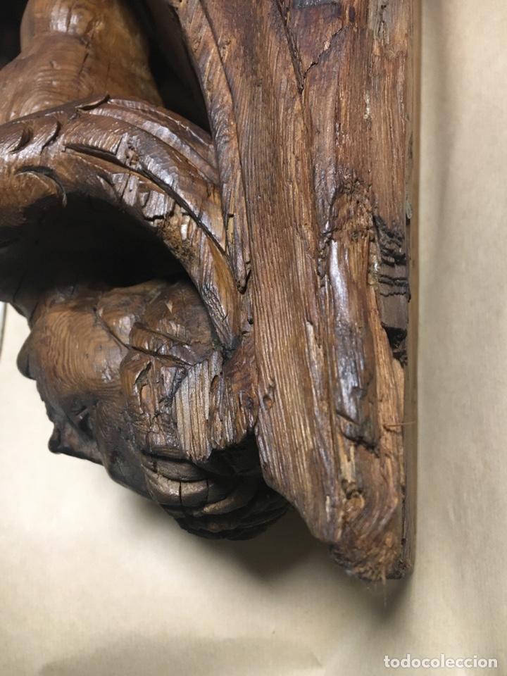 Antigüedades: Antigua mensula de madera - Foto 7 - 205824268