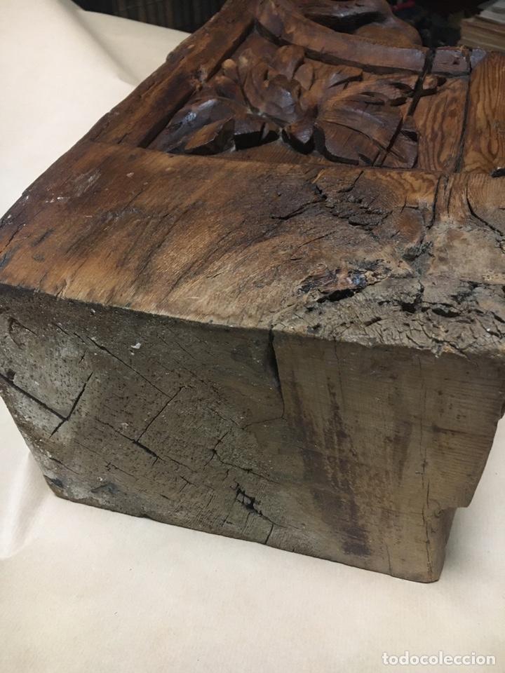 Antigüedades: Antigua mensula de madera - Foto 9 - 205824268