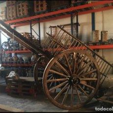 Antigüedades: CARRO DE TIRO DE MADERA Y HIERRO. Lote 205825802