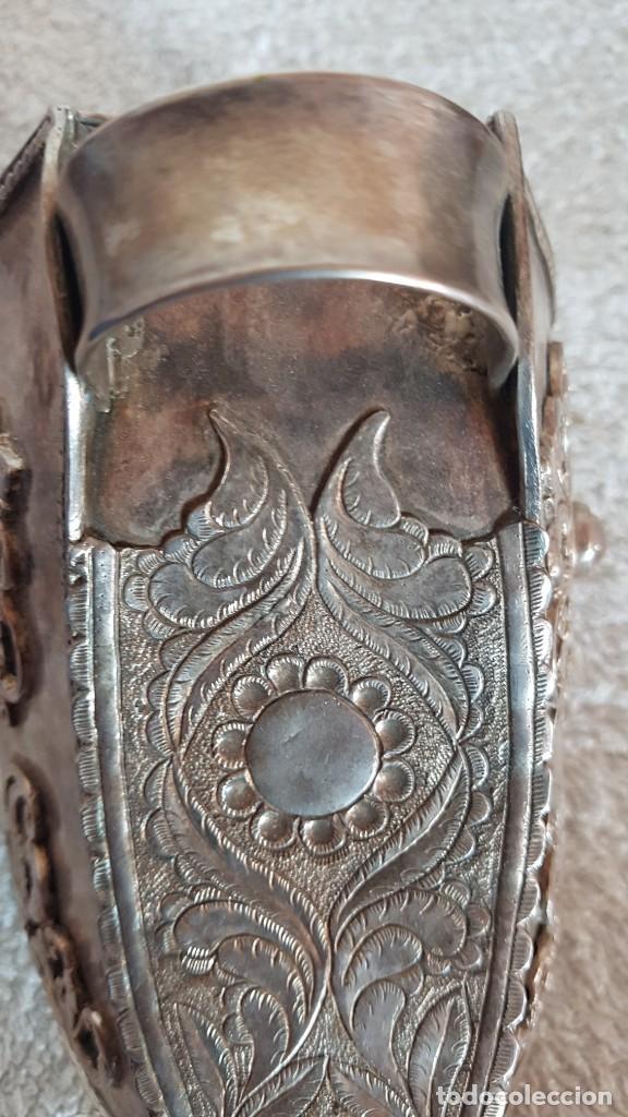 Antigüedades: ESTRIBO DE PLATA SUDAMERICANO - Foto 5 - 205830350