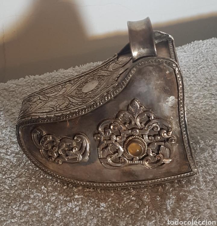 Antigüedades: ESTRIBO DE PLATA SUDAMERICANO - Foto 8 - 205830350