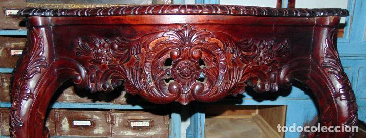 Antigüedades: BONITA CONSOLA ISABELINA , , TALLA DE MADERA, BUEN ESTADO . W - Foto 6 - 205833718