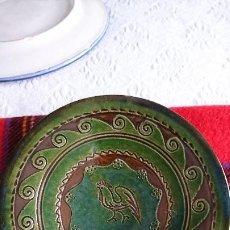 Antigüedades: ANTIGUO PLATO DE CERÁMICA DE UBEDA (JAÉN) DE TITO BUSTILLO, FIRMADO. Lote 205833952