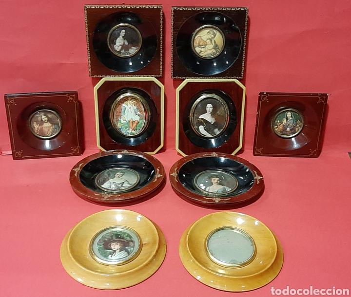 Antigüedades: LOTE DE 5 PAREJA DE MARCOS PARA MINIATURAS. PPS S. XX. - Foto 3 - 205835998