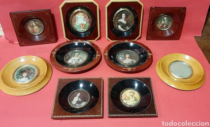 Antigüedades: LOTE DE 5 PAREJA DE MARCOS PARA MINIATURAS. PPS S. XX. - Foto 5 - 205835998