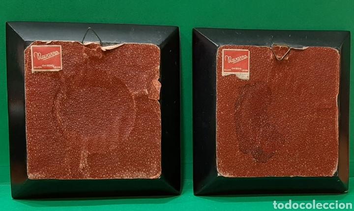 Antigüedades: LOTE DE 5 PAREJA DE MARCOS PARA MINIATURAS. PPS S. XX. - Foto 15 - 205835998
