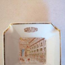 Antigüedades: CENICERO DE PORCELANA SAVINI MILANO (ITALIA). Lote 205867952