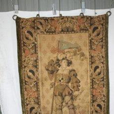 Antigüedades: TAPIZ S.XIX , LANSQUETE ALEMÁN , DE MÁQUINA. Lote 205870981