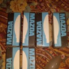 Antigüedades: LOTE DE 6 BOMBILLAS MAZDA LARGAS MATE DE 125/130V-49W E 14.. Lote 205871450