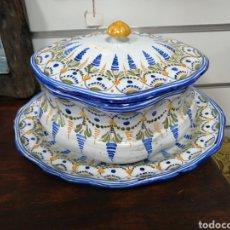 Antigüedades: SOPERA CON PLATO TALAVERA. Lote 206118605