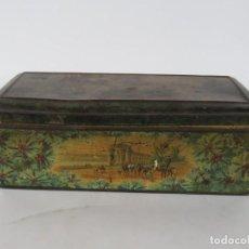 Antigüedades: . CAJA DE FINALES DEL SIGLO XIX. Lote 206129177