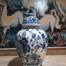 Antiquités: TIBOR DE PORCELANA DELFT HAND PAINTED HOLLAND 1001. Lote 206147537