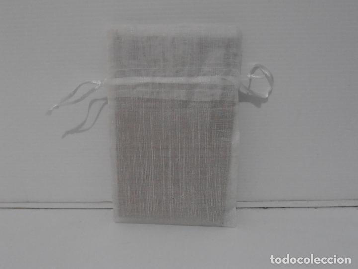 Antigüedades: ANTIGUA BOLSA DE TELA BORDADA A MANO ALIANZAS BODA, AÑOS 50 - Foto 6 - 206158827