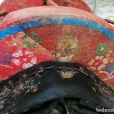 Antigüedades: SILLA DE BURRO O MULA MAS JAMUGA Y CON CORREAJES ETC VER FOTOS. Lote 206169942