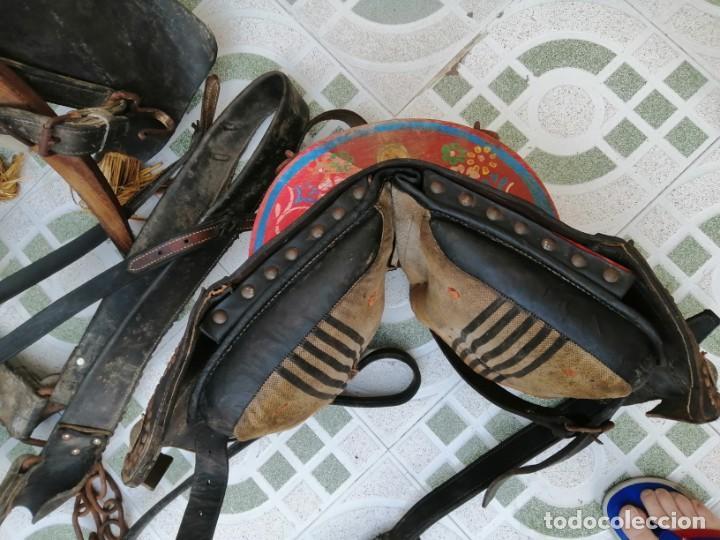 Antigüedades: silla de burro o mula mas jamuga y con correajes etc ver fotos - Foto 8 - 206169942