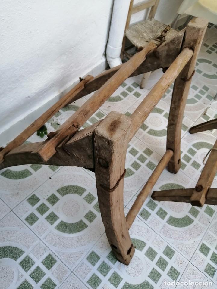 Antigüedades: silla de burro o mula mas jamuga y con correajes etc ver fotos - Foto 11 - 206169942
