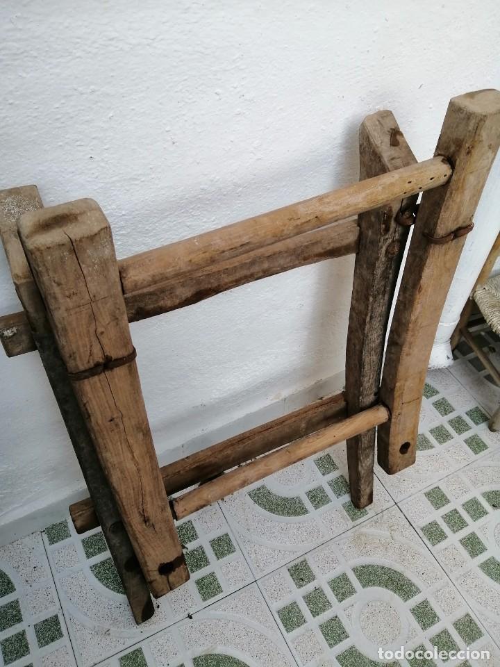 Antigüedades: silla de burro o mula mas jamuga y con correajes etc ver fotos - Foto 12 - 206169942