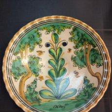 Antigüedades: PUENTE DEL ARZOBISPO ANTIGUO PLATO SERIE PINOS, 28 CM DIAMETRO. Lote 206174865