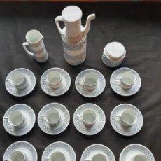 Antigüedades: SARGADELOS-CASTRO JUEGO CAFÉ 12 UNIDADES,CAFETERA,LECHERA Y AZUCARERO. Lote 206179677