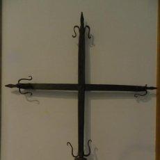 Antigüedades: CRUZ FLOR DE LIRIO, FORJA GÓTICA, SIGLO XIV. Lote 206179967