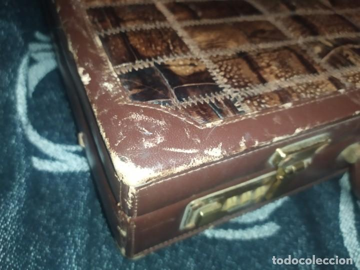 Antigüedades: MALETÍN PIEL COCODRILO MADE IN SPAIN MARCA PRIMERO CIERRE AMIET PRECIOSO ÚNICO - Foto 15 - 175162404