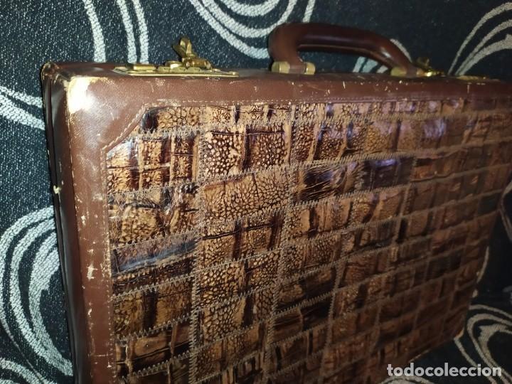 Antigüedades: MALETÍN PIEL COCODRILO MADE IN SPAIN MARCA PRIMERO CIERRE AMIET PRECIOSO ÚNICO - Foto 33 - 175162404