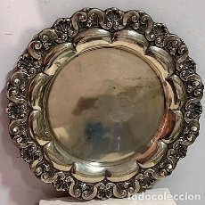 Antigüedades: BANDEJA DE PLATA PORTUGUESA.. Lote 206183656