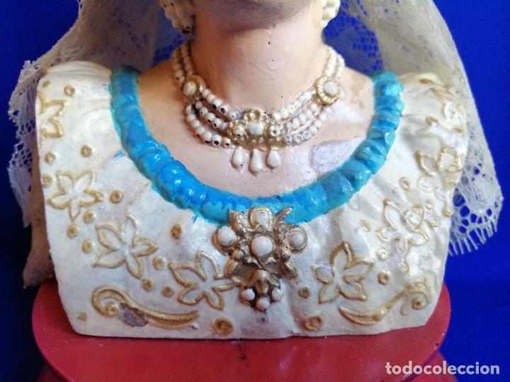Antigüedades: FIGURA CABEZA DE FALLERA ANTIGUA PINTADA A MANO - Foto 5 - 206185341