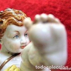 Antigüedades: QUERUBIN - ANGEL DE PORCELANA DE ALGORA SELLADO Y NUMERADO - PERFECTO ESTADO -. Lote 164694538