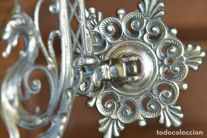 Antigüedades: LAMPARA APLIQAUE DE METAL DE 23 CM DE LARGO POR 15 CM DE ALTO - Foto 5 - 206210441