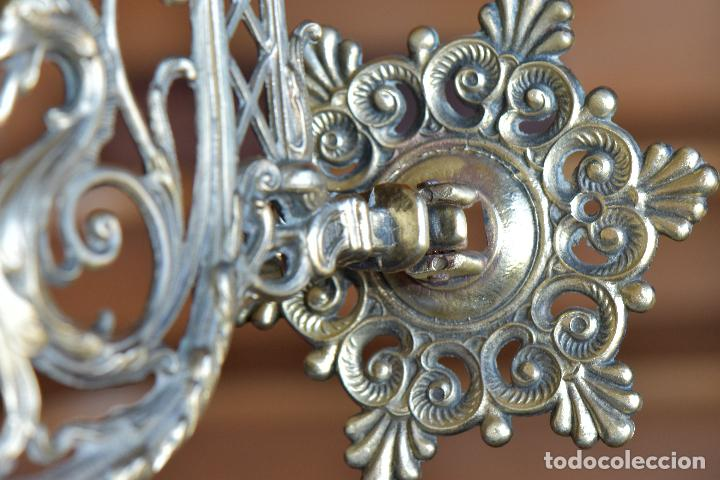 Antigüedades: LAMPARA APLIQAUE DE METAL DE 23 CM DE LARGO POR 15 CM DE ALTO - Foto 6 - 206210441
