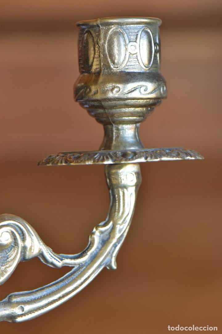 Antigüedades: LAMPARA APLIQAUE DE METAL DE 23 CM DE LARGO POR 15 CM DE ALTO - Foto 8 - 206210441