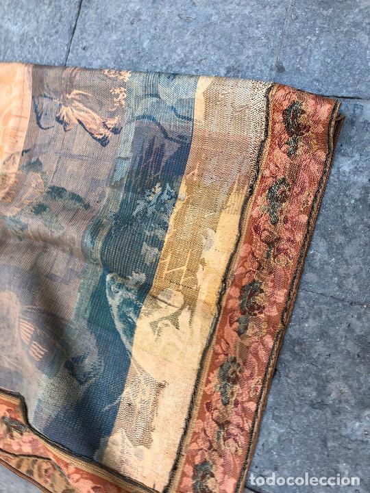 Antigüedades: TAPIZ JACQUARD 1920S, ESCENA CON DE MESA CON UN MONO TAMAÑO 217 x 174 cm. - Foto 2 - 206211747