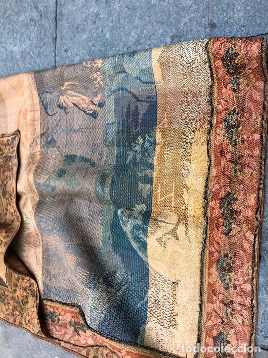 Antigüedades: TAPIZ JACQUARD 1920S, ESCENA CON DE MESA CON UN MONO TAMAÑO 217 x 174 cm. - Foto 4 - 206211747