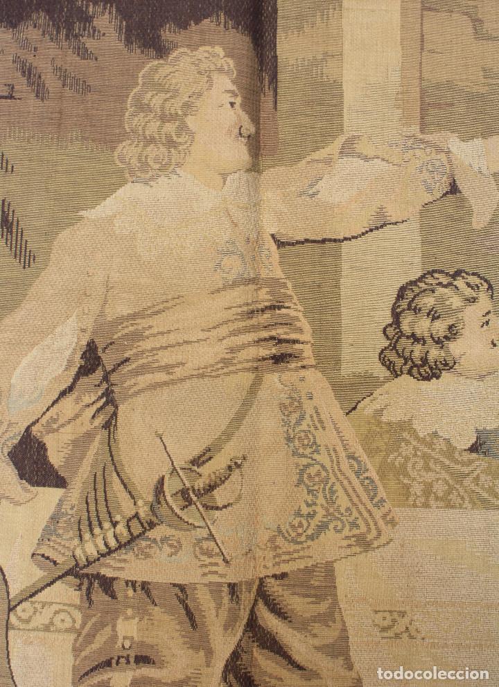 Antigüedades: TAPIZ JACQUARD 1920S, ESCENA CON DE MESA CON UN MONO TAMAÑO 217 x 174 cm. - Foto 7 - 206211747