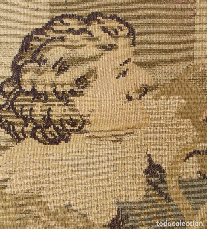 Antigüedades: TAPIZ JACQUARD 1920S, ESCENA CON DE MESA CON UN MONO TAMAÑO 217 x 174 cm. - Foto 8 - 206211747