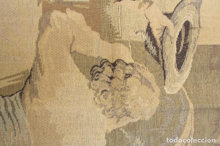 Antigüedades: TAPIZ JACQUARD 1920S, ESCENA CON DE MESA CON UN MONO TAMAÑO 217 x 174 cm. - Foto 9 - 206211747