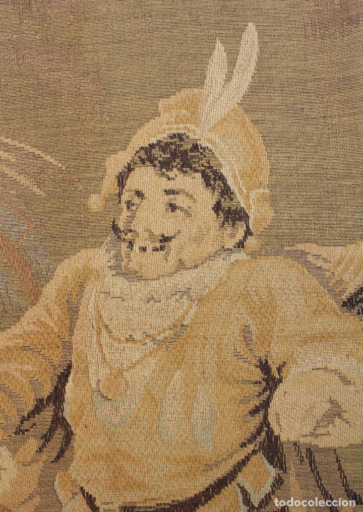 Antigüedades: TAPIZ JACQUARD 1920S, ESCENA CON DE MESA CON UN MONO TAMAÑO 217 x 174 cm. - Foto 10 - 206211747