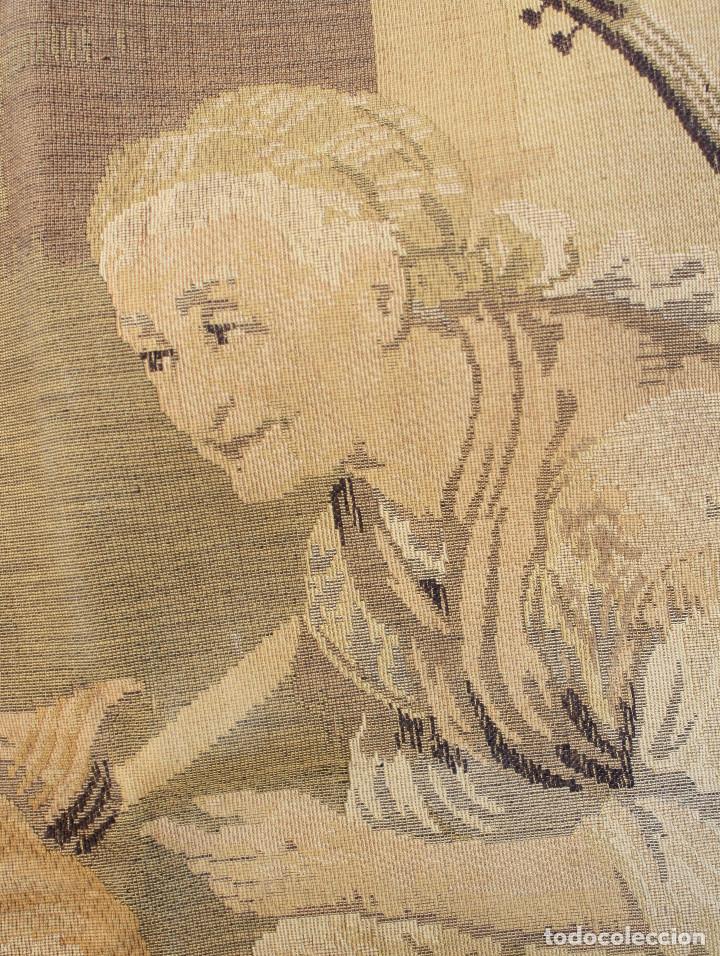 Antigüedades: TAPIZ JACQUARD 1920S, ESCENA CON DE MESA CON UN MONO TAMAÑO 217 x 174 cm. - Foto 11 - 206211747