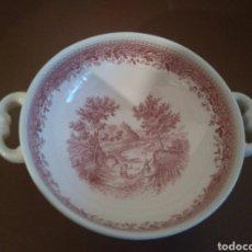 Antigüedades: 1 TAZA CONSOME VILLEROY & BOCH BURGENTAND ROSA. Lote 206218860