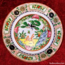 Antigüedades: PLATO DE PORCELANA DE MACAU. CON SELLO EN LA BASE. CHINA. PRINCIPIO SIGLO XX. Lote 206231560