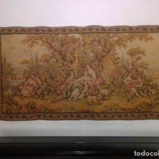 Antigüedades: ANTIGUO Y ORIGINAL GRAN TAPIZ DE TEMA BUCÓLICO, ROMANTICISMO.. Lote 206244660