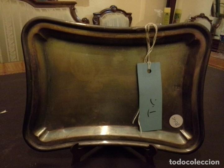 Antigüedades: BANDEJA DE ALPACA - Foto 2 - 206247577