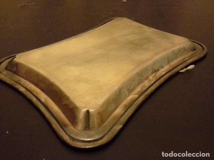 Antigüedades: BANDEJA DE ALPACA - Foto 9 - 206247577