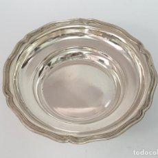 Antigüedades: CESTA EN PLATA LEY MARCADO CON CONTRASTE. Lote 206253510