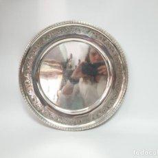 Antigüedades: BANDEJA EN PLATA LEY MARCADO CON CONTRASTE. Lote 206254967